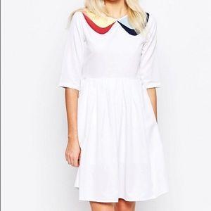 ASOS/ The White Pepper White Collared Dress